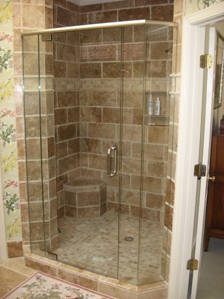 Frameless Shower Door With Header 011