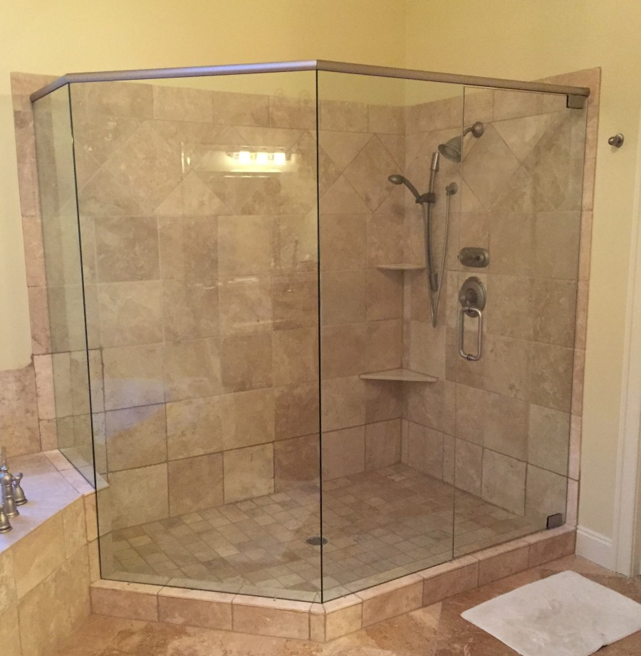 Frameless Showers with Header | Frameless Shower Doors