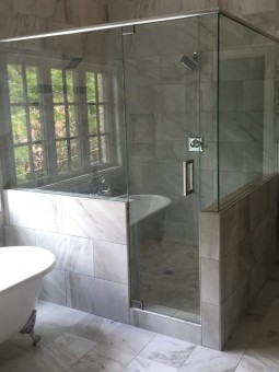 Frameless Shower Door with Header 029
