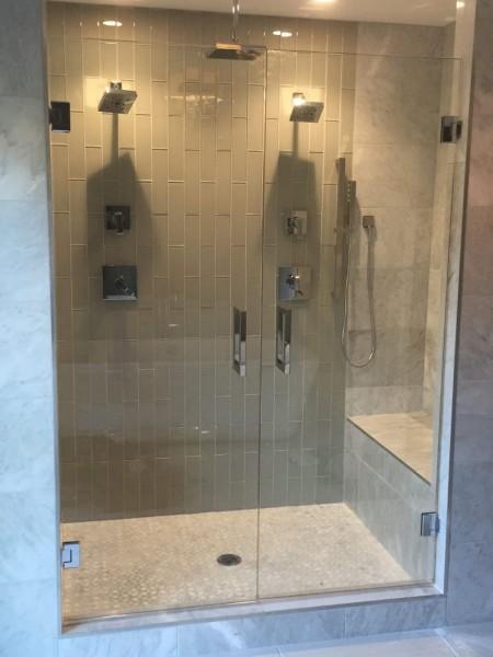 Frameless Shower Double Doors 003