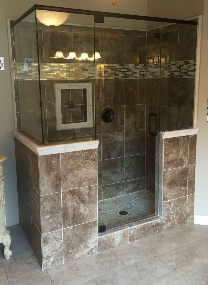frameless shower door with header 038 90 with header oil rubbed bronze