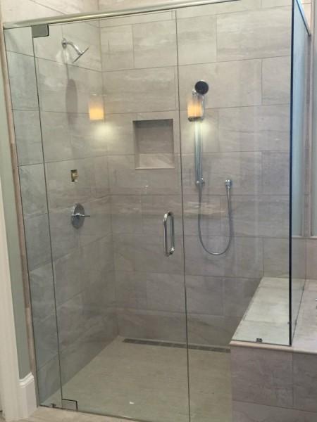 Frameless Shower Door with Header 041