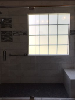 Frameless Shower Door with Header 030