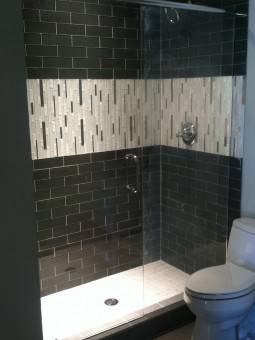 Frameless Shower Door with Header 036