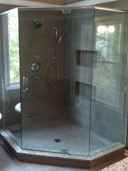 Frameless Shower Door with Header 037